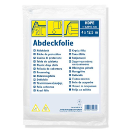 Afdekfolie HDPE 0,005 mm 4 x 12,5 m