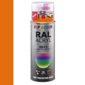Dupli-Color Ral Acryl Ral 2011 Diep oranje Hoogglans 400 ml