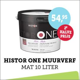 Histor One Muurverf Mat 10 liter + 2e halve prijs