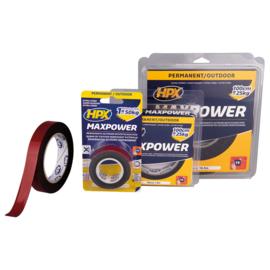 HPX Max Power Outdoor Bevestigingstape Zwart 25mm x 1,5m