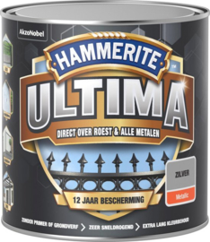 Hammerite Ultima Metaallak Metallics Zilver 250 ml