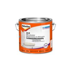 Alabastine 2in1 Muurverf Badkamer en Keuken Wit 2,5 liter