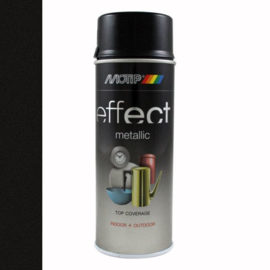 Motip Deco Effect Metallic Zwart 400 ml