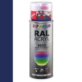Dupli-Color Ral Acryl Ral 5022 Nacht blauw Hoogglans 400 ml