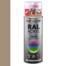 Dupli-Color Ral Acryl Ral 1019 Grijsbeige Hoogglans 400 ml