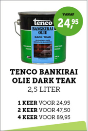 Tenco Bangkirai Olie Dark Teak 2,5 liter