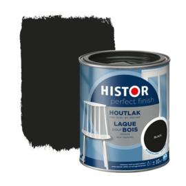 Histor Houtlak Zijdeglans Black 750 ml