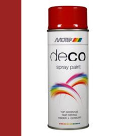 Motip Deco Paint Ral 3002 Karmijnrood Hoogglans 400 ml