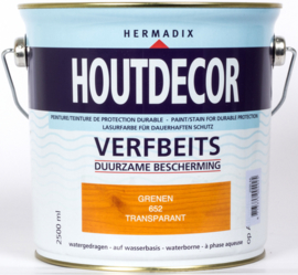 Hermadix Houtdecor Verfbeits Transparant Grenen 652 2,5 liter