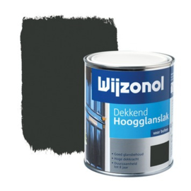 Wijzonol Dekkend Hoogglans Zwart 9450 750 ml