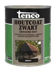Tenco Houtcoat Zwart Waterbasis Mat 1 liter