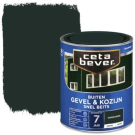 CetaBever Snelbeits Dekkend Donker Groen Zijdemat 750 ml