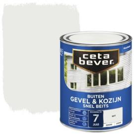 CetaBever Snelbeits Dekkend Wit Zijdemat 750 ml
