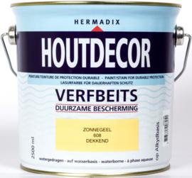 Hermadix Houtdecor Verfbeits Zonnegeel 608 2,5 liter