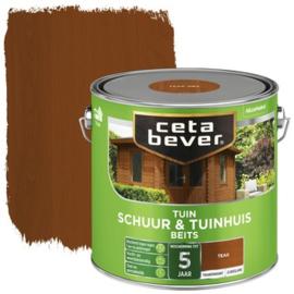 CetaBever Schuur en Tuinhuis Beits Teak 2,5 liter