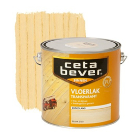 CetaBever Vloerlak Zijdeglans Transparant Blank 2,5 liter