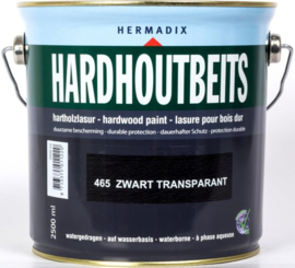 Hermadix Hardhoutbeits Zwart Transparant 465 2,5 liter