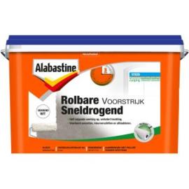 Alabastine Rolbare Voorstrijk Sneldrogend Wit 5 liter