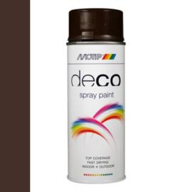 Motip Deco Paint Ral 8017 Chocolade Bruin Hoogglans 400 ml