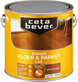 CetaBever Vloer en Parketlak Zijdeglans Donker Eiken 2.5 liter