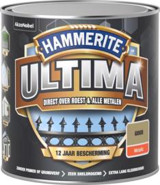 Hammerite Ultima Metaallak Metallics Goud 250 ml