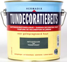 Hermadix Tuindecoratiebeits Transparant Natuur Blauw 764 2,5 liter