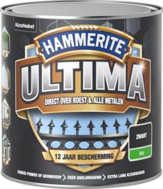 Hammerite Ultima Metaallak Mat Zwart 250 ml
