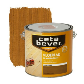 CetaBever Vloerlak Zijdeglans Transparant Licht Eiken 2,5 liter