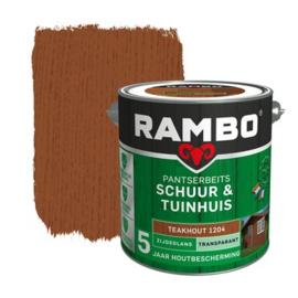 Rambo Pantserbeits Schuur en Tuinhuis Zijdeglans Teakhout 2,5 liter