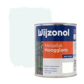 Wijzonol Metaallak Hoogglans IJswit 9100 750 ml