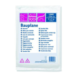 Bouwfolie LDPE 0,040 mm 4 x 5 m Transparant