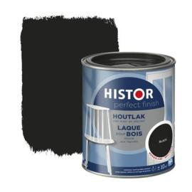 Histor Houtlak Hoogglans Black 750 ml