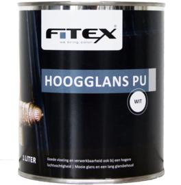 4 keer 2,5 liter Fitex Hoogglans PU lak