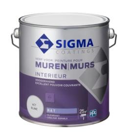 Sigma Interieur Muurverf Hoogdekkend MAT Alle Kleuren 2,5 liter