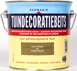 Hermadix Tuindecoratiebeits Transparant Olijf Groen 763 2,5 liter