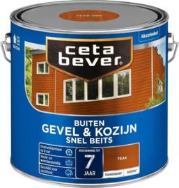 CetaBever Snelbeits Transparant Teak Zijdemat 2,5 liter
