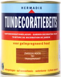 Hermadix Tuindecoratiebeits Transparant Zweeds Rood 761 750 ml