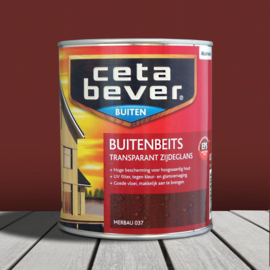 CetaBever Buitenbeits Transparant Merbau 037 750 ml