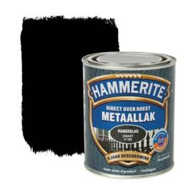 Hammerite Metaallak Zwart H160 Hamerslag 250 ml