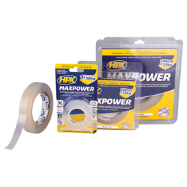 HPX Maxx Power Transparent bevestigingstape 19mm x 2m