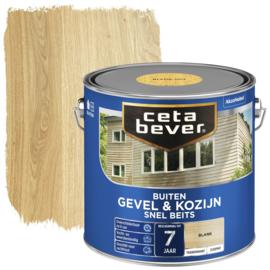 CetaBever Snelbeits Transparant Blank Zijdemat 2,5 liter