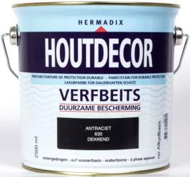 Hermadix Houtdecor Verfbeits Antraciet 630 2,5 liter