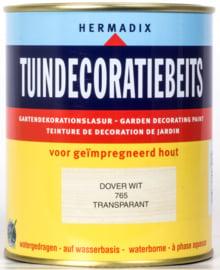 Hermadix Tuindecoratiebeits Transparant Dover Wit 765 750 ml