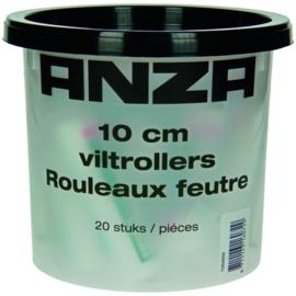 Anza Elite Lakvilt Roller 10cm in Emmer 20 Stuks