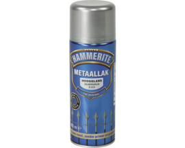 Hammerite Hoogglans Zilvergrijs S015 Spuitbus 400 ml