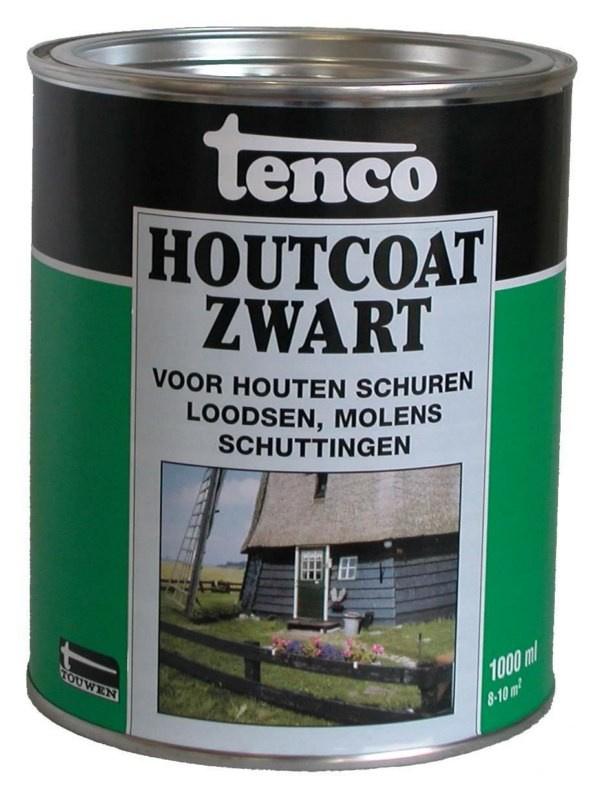 Tenco Houtcoat Zwart 5 liter