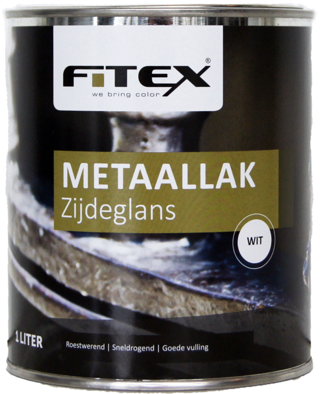 4 keer 2,5 liter Fitex Metaallak Zijdeglans