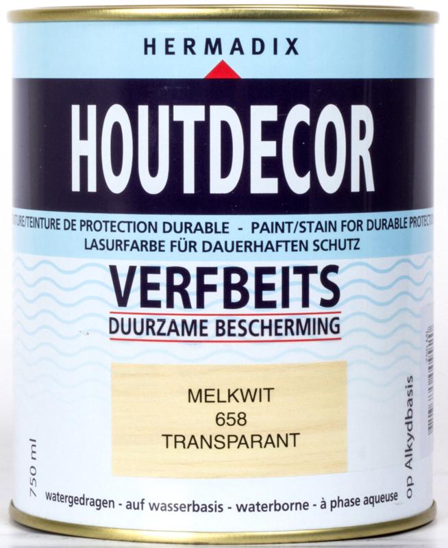 Hermadix Houtdecor Verfbeits Transparant Melkwit 658 750 ml