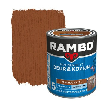 Rambo Pantserbeits Deur en Kozijn Hoogglans Teakhout 2,5 liter