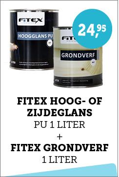 Fitex Hoogglans PU 1 liter + Fitex Grondverf 1 liter